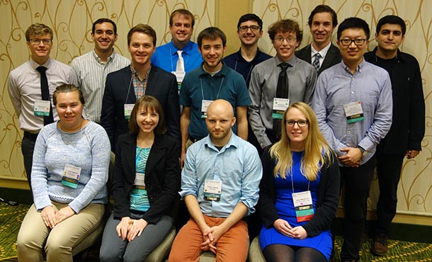Students at the Acoustical Society of America's New Orleans conference.