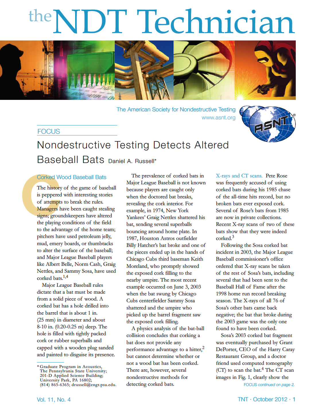 Physics and Acoustics of Baseball and Softball Bats